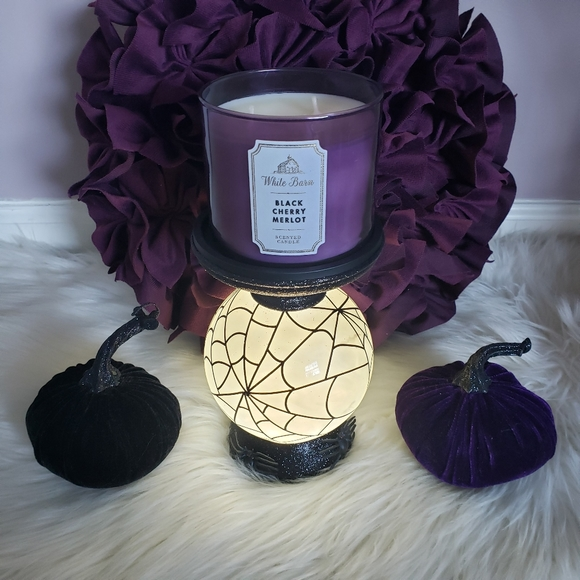BATH AND BODY WORKS SILVER SPARKLY ROSES 3-WICK CANDLE HOLDER NWT